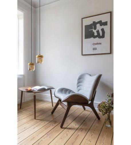 Acorn  Lampa wisząca – Styl skandynawski – kolor beżowy, mosiądz, złoty