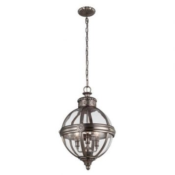 Adams Lampa wisząca – klasyczny – kolor srebrny, transparentny