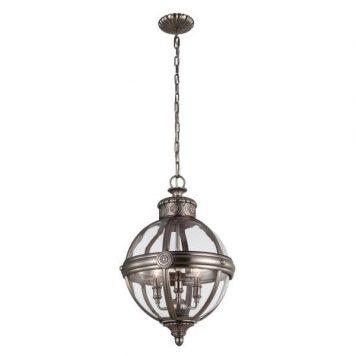 Adams Lampa wisząca – szklane – kolor brązowy, transparentny