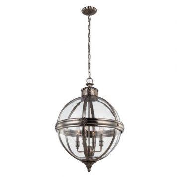 Adams Lampa wisząca – szklane – kolor srebrny, transparentny