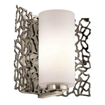 Adeza Lampa nowoczesna – szklane – kolor biały, srebrny