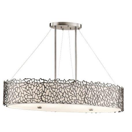 Adeza Lampa wisząca – szklane – kolor biały, srebrny