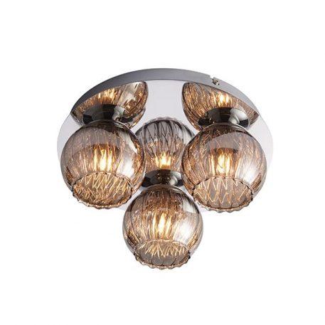 Aerith  Lampa sufitowa – szklane – kolor srebrny, transparentny, Szary