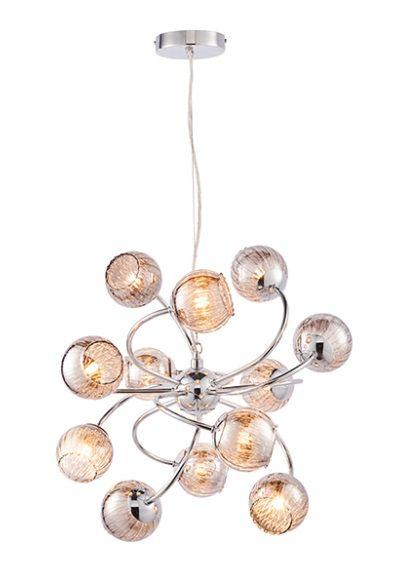Aerith Lampa wisząca – szklane – kolor srebrny, transparentny