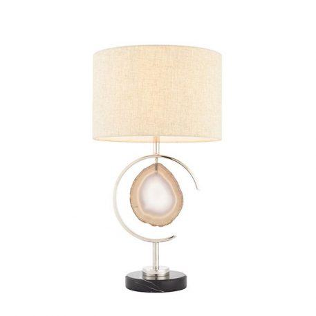 Agate Lampa nowoczesna – Styl nowoczesny – kolor beżowy, srebrny