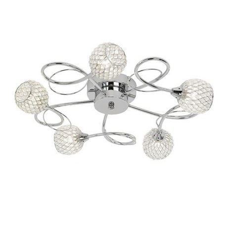 Aherne Lampa sufitowa – Styl glamour – kolor srebrny