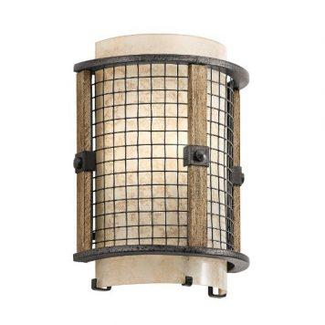 Ahrendale Lampa industrialna – szklane – kolor beżowy