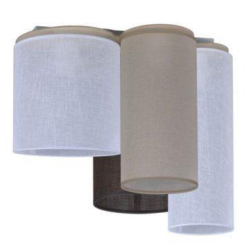 Aida Lampa sufitowa – Styl nowoczesny – kolor beżowy, biały, brązowy