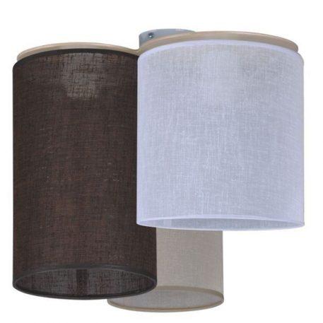Aida Lampa sufitowa – Z abażurem – kolor beżowy, biały, brązowy