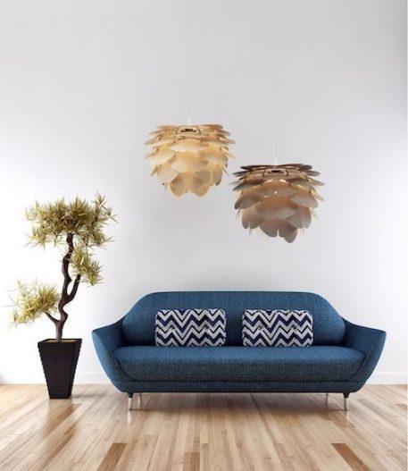 Aiko Lampa wisząca – Drewniane – kolor beżowy