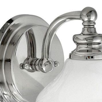 Ainsley Kinkiet – szklane – kolor biały, srebrny