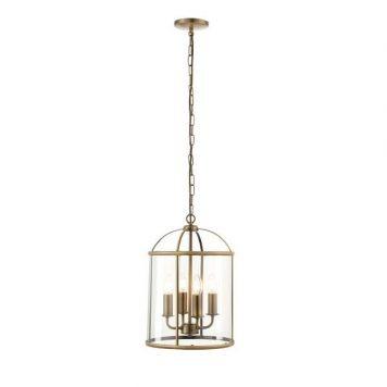 Lambeth Lampa wisząca – klasyczny – kolor mosiądz, transparentny