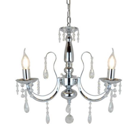 Albi Żyrandol – Styl glamour – kolor srebrny