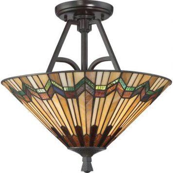 Alcott Lampa sufitowa – klasyczny – kolor beżowy, brązowy