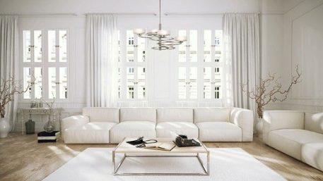 Aleeka Żyrandol – Styl nowoczesny – kolor biały, srebrny