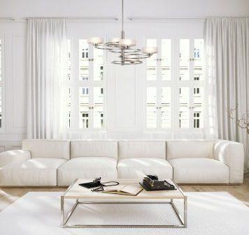 Aleeka Żyrandol – szklane – kolor srebrny