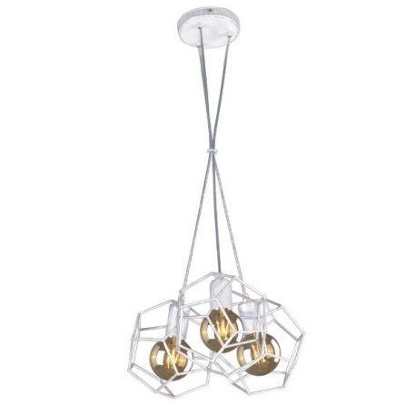 Alicante Lampa wisząca – industrialny – kolor biały, srebrny