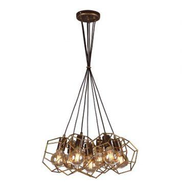 Alicante Lampa wisząca – industrialny – kolor brązowy, złoty