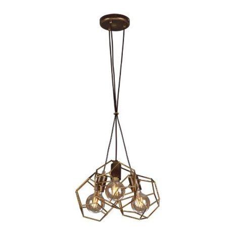 Alicante  Lampa wisząca – Styl skandynawski – kolor brązowy, złoty