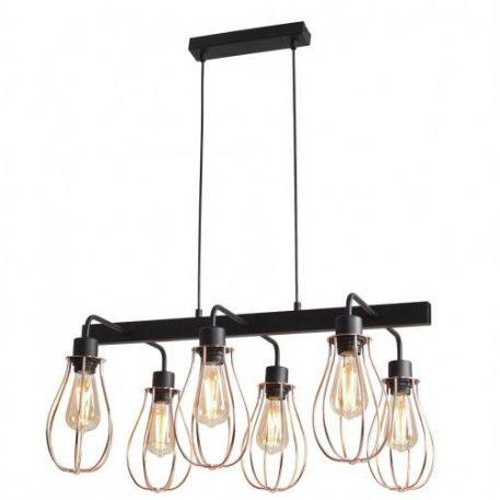 Allegra  Lampa wisząca – industrialny – kolor miedź, Czarny