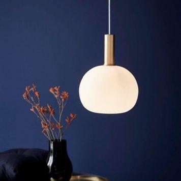 Alton  Lampa wisząca – szklane – kolor biały