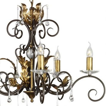 Amarilli Żyrandol – klasyczny – kolor brązowy, złoty