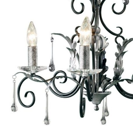 Amarilli Żyrandol – klasyczny – kolor srebrny, Czarny