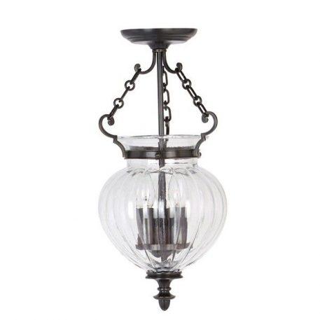 Amfora  Lampa wisząca – szklane – kolor brązowy, transparentny