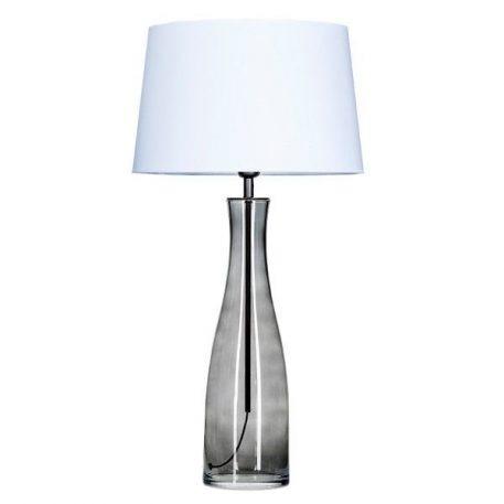 Amsterdam  Lampa stołowa – Z abażurem – kolor biały, transparentny, Szary
