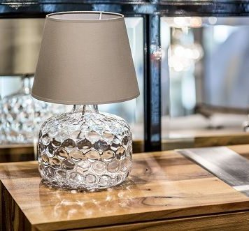 Andorra Lampa nowoczesna – Styl modern classic – kolor beżowy, transparentny