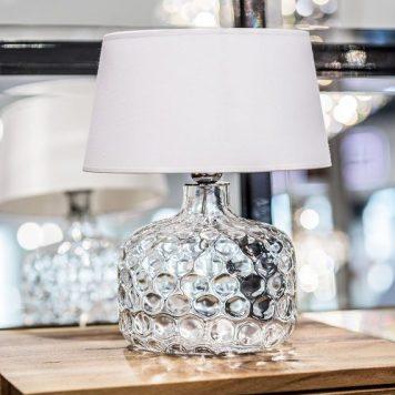 Andorra Lampa nowoczesna – szklane – kolor biały, transparentny