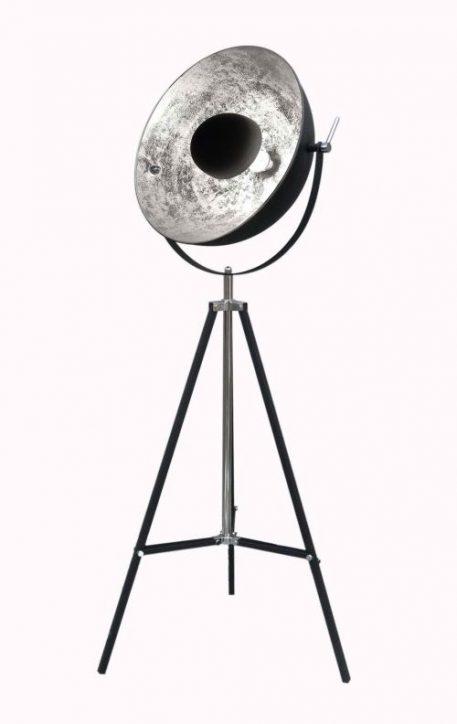Antenne Lampa podłogowa – Styl nowoczesny – kolor srebrny, Czarny