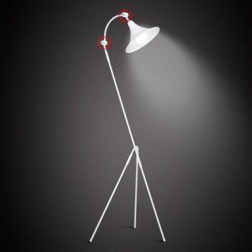 Antika  Lampa podłogowa – Styl nowoczesny – kolor biały