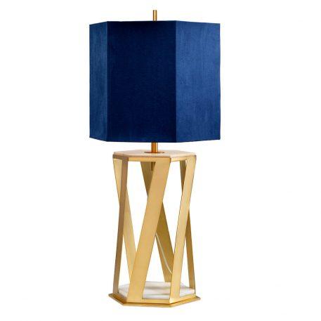 Apollo Lampa nowoczesna – Styl nowoczesny – kolor złoty, Niebieski