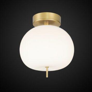 Apple  Lampa sufitowa – szklane – kolor biały, złoty