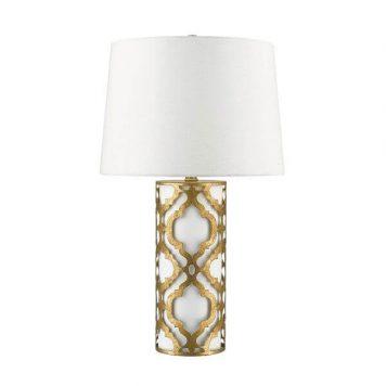 Arabella Lampa klasyczna – klasyczny – kolor beżowy, biały, złoty