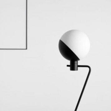 Arbuz  Lampa podłogowa – Do czytania – kolor transparentny, Czarny