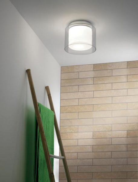 Arezzo  Lampa sufitowa – Styl nowoczesny – kolor biały, transparentny