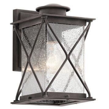 Argyle Lampa zewnętrzna – klasyczny – kolor brązowy, transparentny