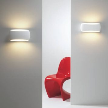 Aria Lampa nowoczesna – Gipsowe – kolor biały