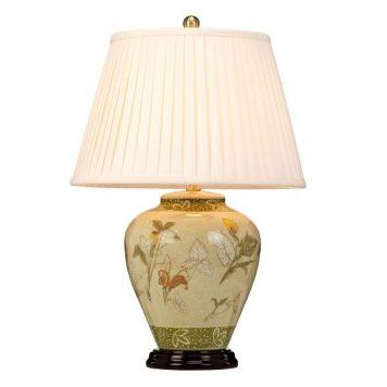 Arum  Lampa stołowa – klasyczny – kolor beżowy, Zielony