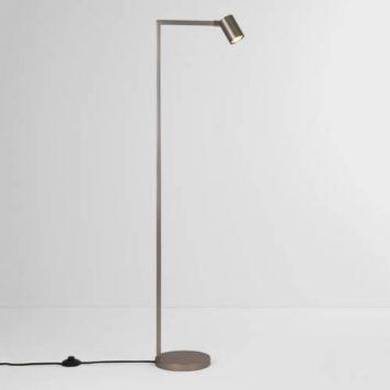 Ascoli Lampa podłogowa – Do czytania – kolor srebrny