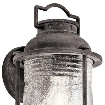 Ashlandbay Lampa zewnętrzna – klasyczny – kolor brązowy, transparentny