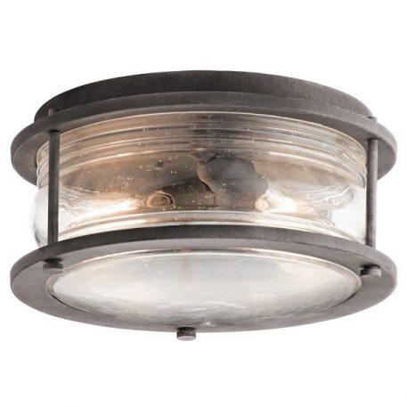 Ashlandbay Lampa zewnętrzna – Plafony – kolor brązowy, transparentny