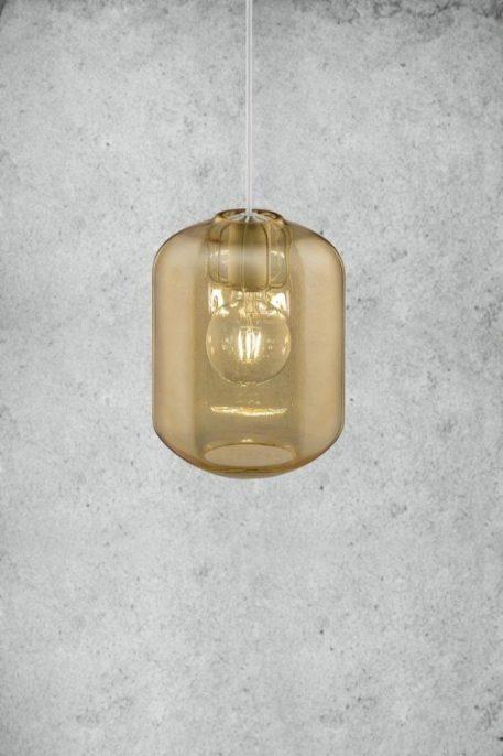 Askja Edge  Lampa wisząca – Styl nowoczesny – kolor beżowy, transparentny