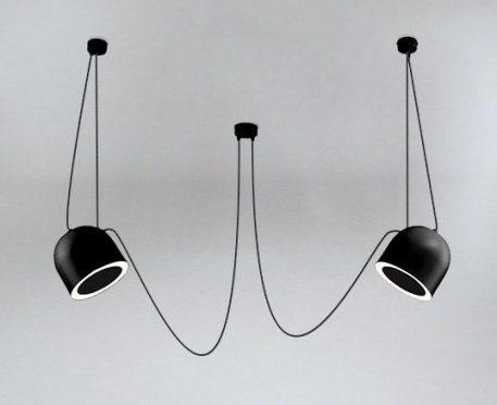 Askja Pipe 12  Lampa wisząca – Styl nowoczesny – kolor Czarny