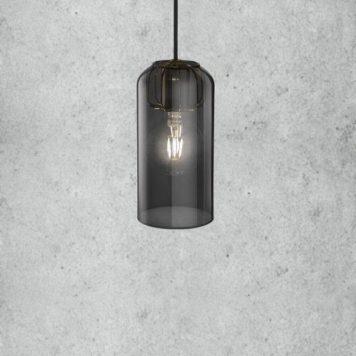 Askja Pipe 12  Lampa wisząca – Styl nowoczesny – kolor transparentny, Szary