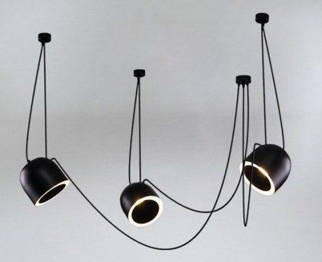 Askja Pipe 12  Żyrandol – Styl nowoczesny – kolor Czarny
