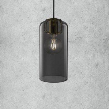 Askja Pipe 14 Lampa wisząca – Styl skandynawski – kolor transparentny, Szary