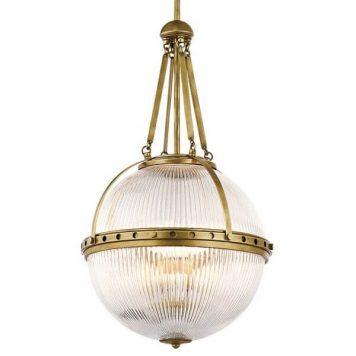 Aster Lampa wisząca – klasyczny – kolor mosiądz, transparentny, złoty